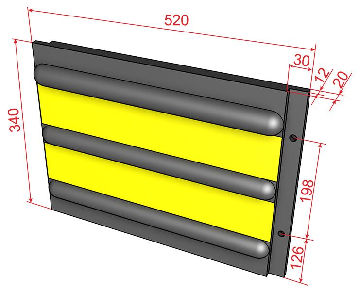 Плита для защиты стен и причалов